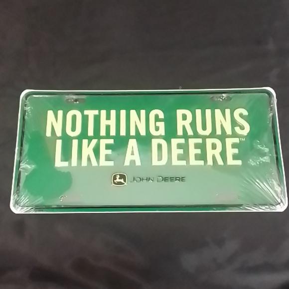 John Deere Licence Plate